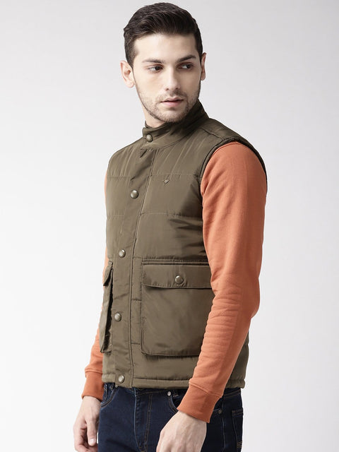 Olive Casual Jacket side view
