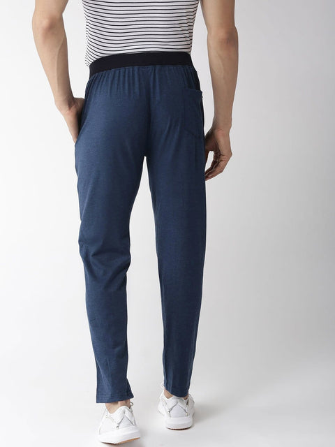 Blue Slim Fit Lower back view