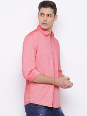 Red Slim Fit Casual Shirt