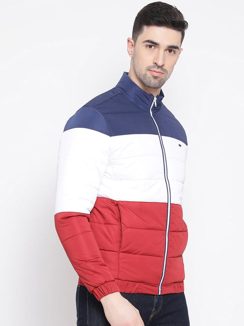 Red White Blue Regular Fit Jacket side view