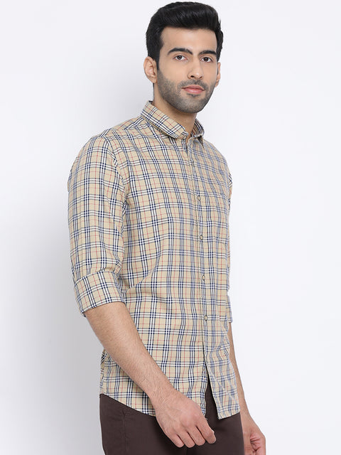 Mustard Slim Fit Casual Shirt
