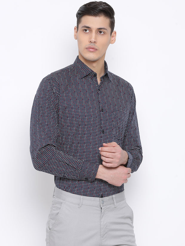 Navy Slim Fit Clubwear Shirt