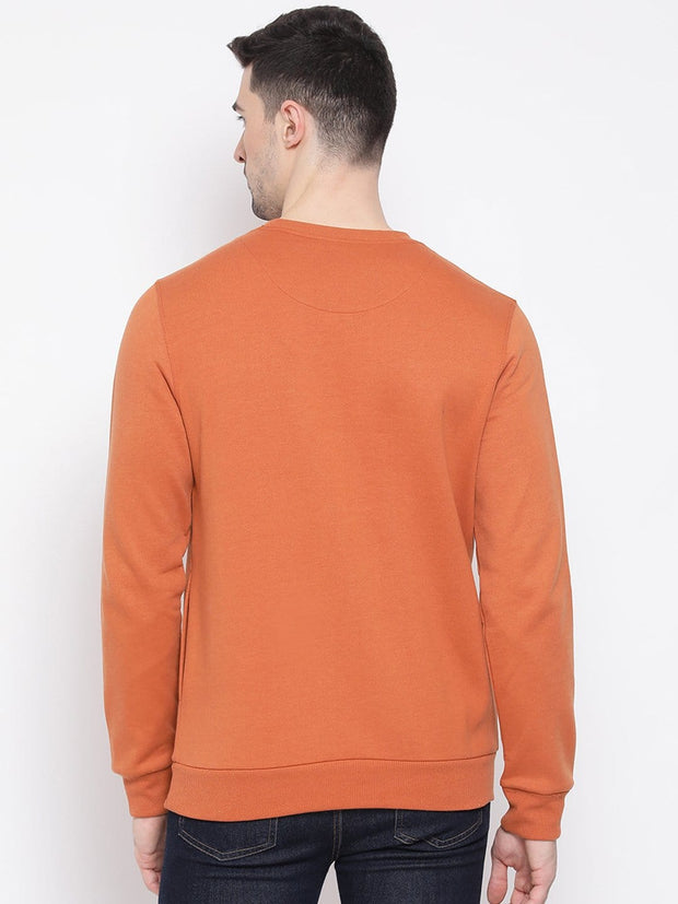Rust Sweatshirt back view