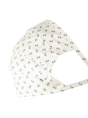 Pal Cream Square Shape Printed Mask