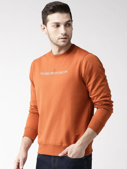 Rust Solid Sweatshirt side view