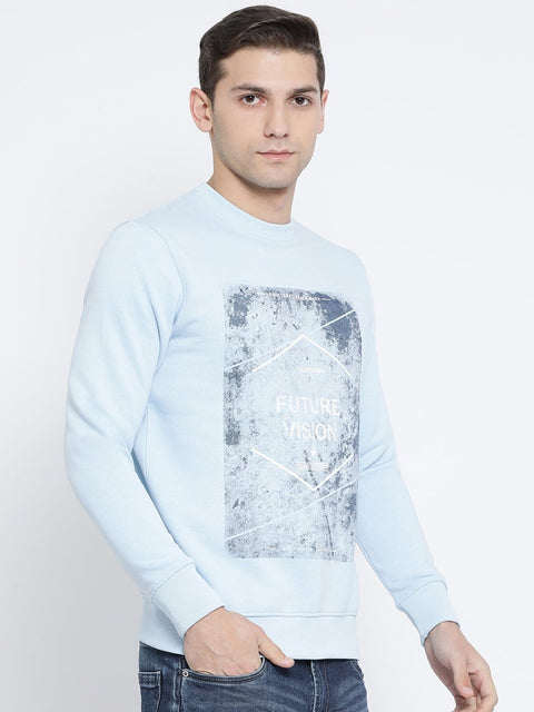 Sky Round Neck Sweatshirt side view