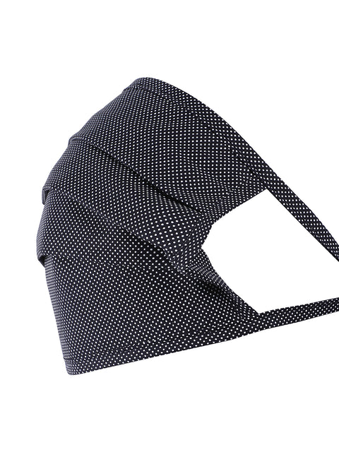 Navy Square Shape Printed Mask