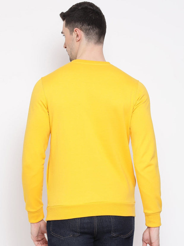Mustard Sweatshirt back view