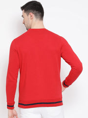 Red Sweatshirt back view
