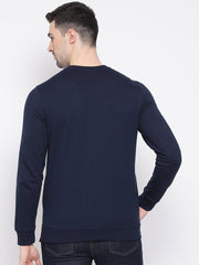 Navy Blue Sweatshirt back view