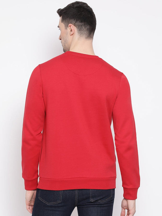 Maroon Sweatshirt back view