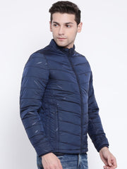 Navy Blue Casual Jacket side view