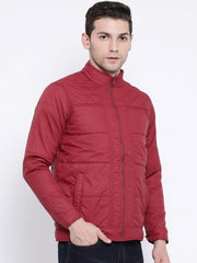 Maroon Casual Jacket side view