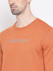 Rust Sweatshirt close view
