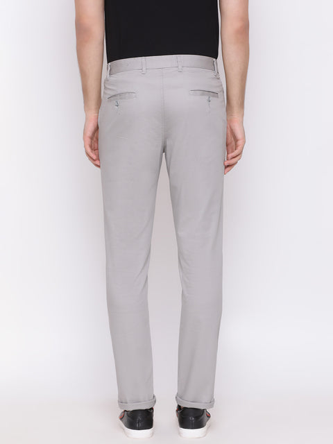 Grey Casual Slim Fit Trouser