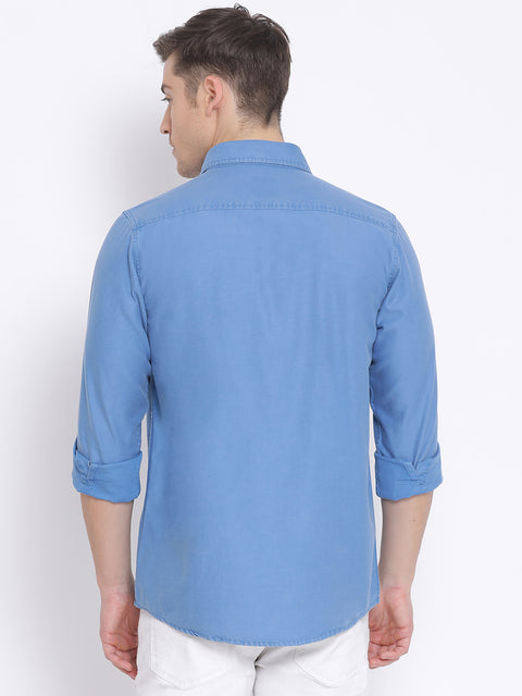 Deep Ocean Slim Fit Casual Shirt