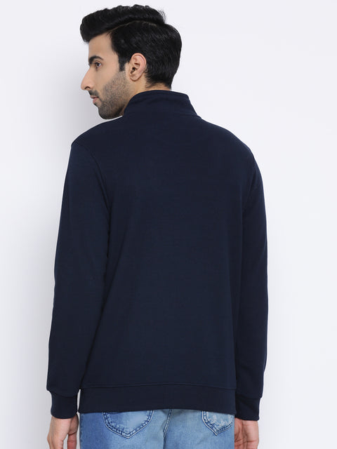 T-Neck Navy Sweatshirt