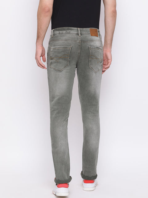 Olive Casual Classic Fit Jeans