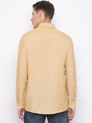 Camel Slim Fit Casual Shirt