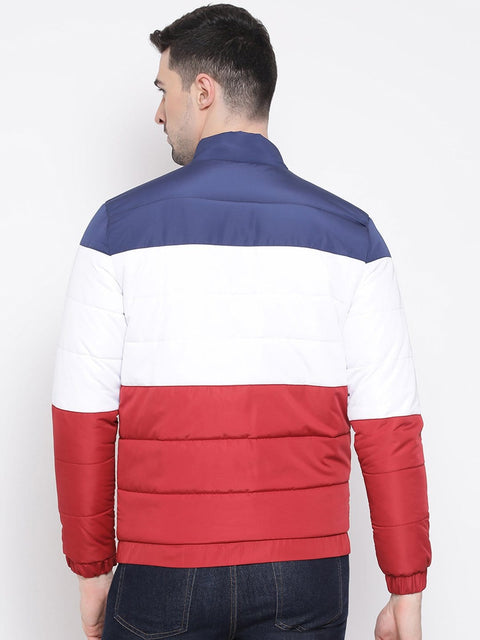 Red White Blue Regular Fit Jacket back view