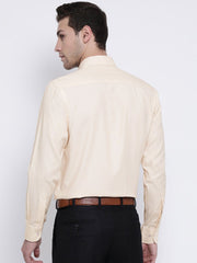 Cream Formal Shirt back view