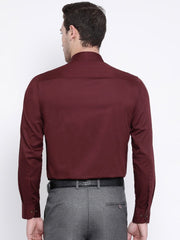 Maroon Regular Fit Club Wear Shirt back view
