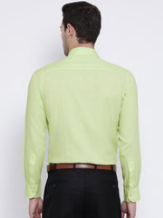Green Formal Shirt back view