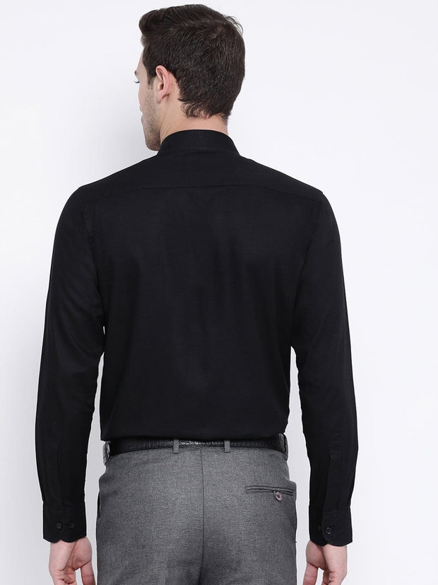 Black Formal Shirt back view