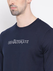 Navy Blue Sweatshirt close view