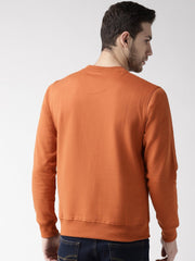 Rust Solid Sweatshirt back view