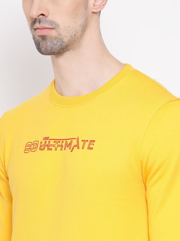 Mustard Sweatshirt close view