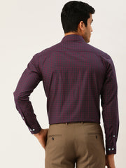 Brown & Red Formal Shirt