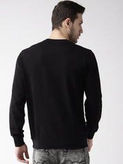 Printed Black Sweatshirt back view