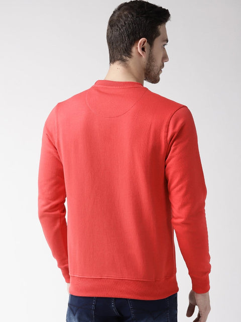 Cherry color Sweatshirt back view