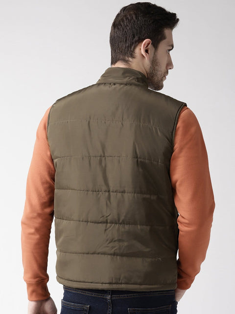Olive Casual Jacket back view