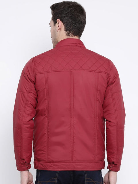 Maroon Casual Jacket back view