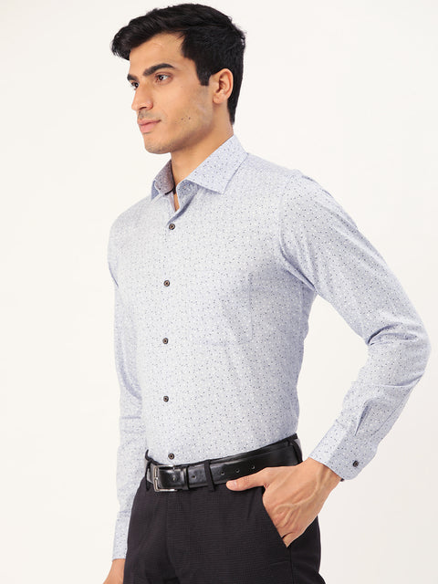 Sky Printed Regular Fit Club wear Shirt