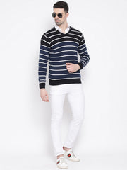 Richlok Black & White Stripped Sweater