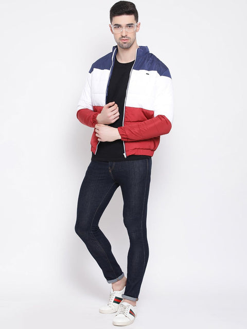 Red White Blue Regular Fit Jacket for men