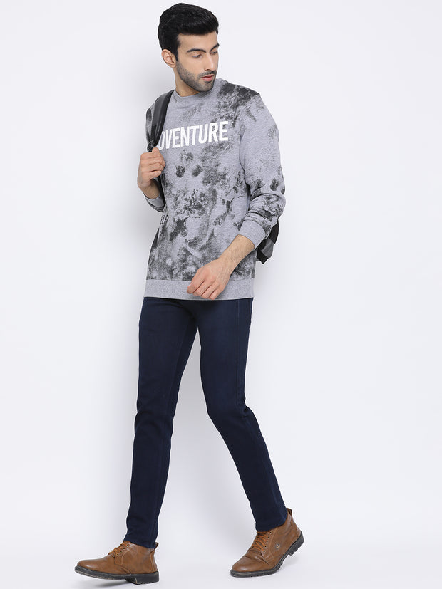 Round Neck M.Grey Sweatshirt