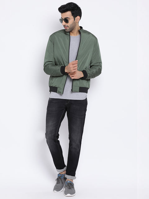 Regular Fit Olive Jacket