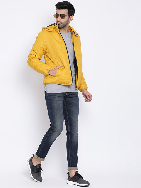Regular Fit Mustard Jacket