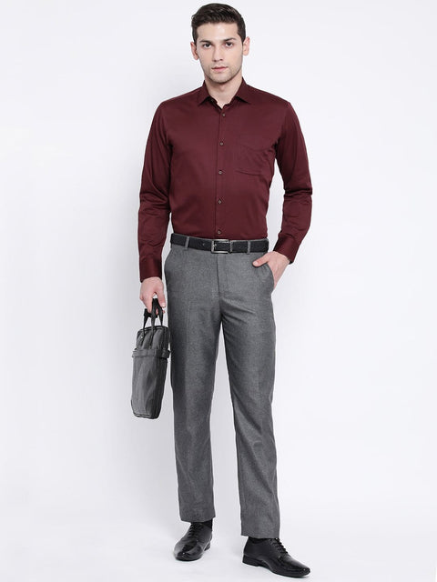 Maroon Slim Fit Club Wear Shirt for men