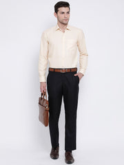Cream Formal Shirt for men