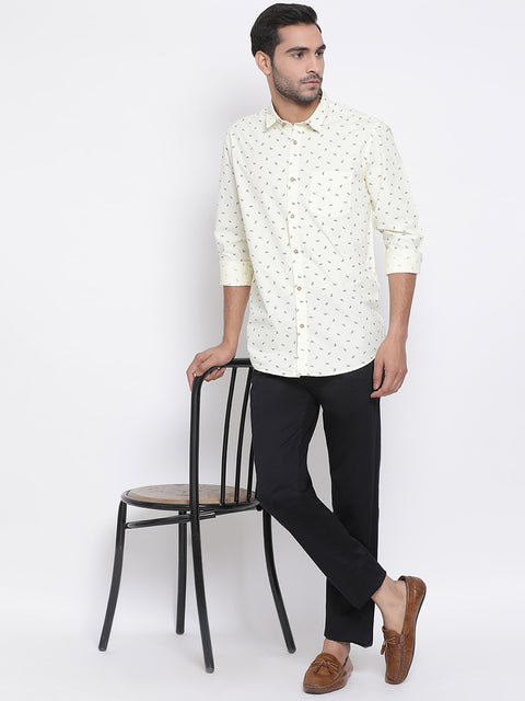Lemon Slim Fit Casual Shirt