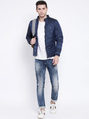 Navy Blue Casual Jacket for men