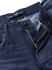 Dark Blue Slim Fit Jeans close view