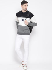 Black white Grey Sweatshirt for men