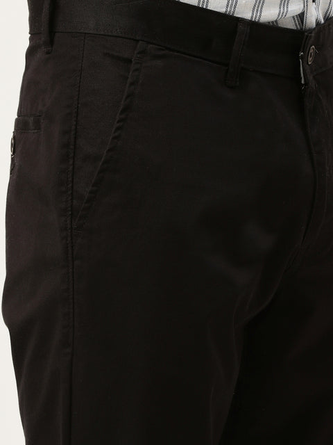 Black Casual Slim Fit Trouser