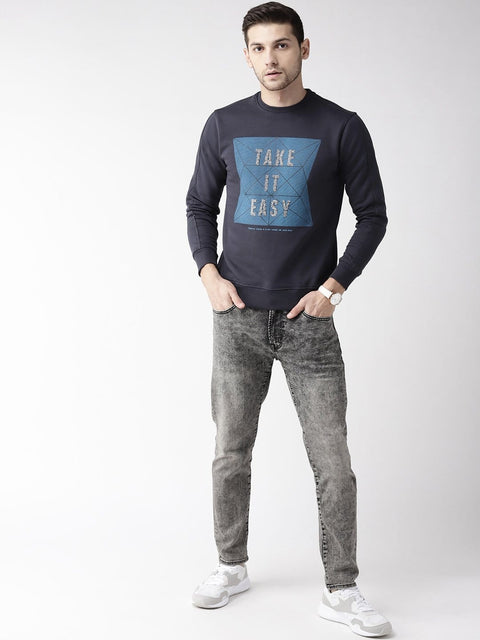 Rust Solid Sweatshirt for Men